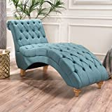 Cheap Bellanca Fabric Tufted Chaise Lounge Chair (Dark Teal)