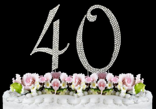 Rhinestone Cake Topper Number 40 by other