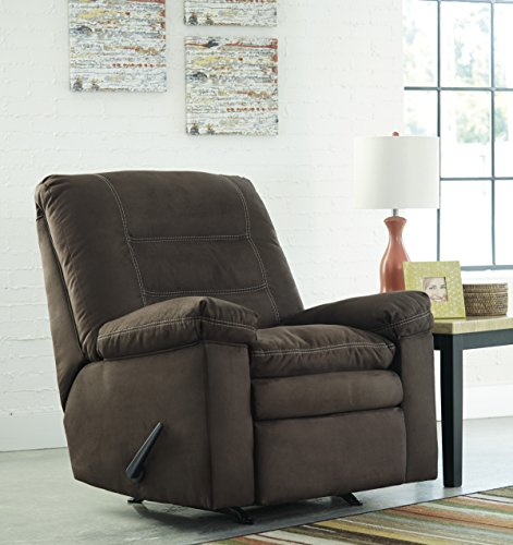 Talut Contemporary Low Melt Fiber Cafe Color Rocker Recliner