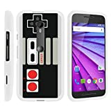 MINITURTLE Case Compatible w/ [Motorola Moto G 3rd Generation Case, Moto G (3rd Gen) Case][Snap Shell] Hard Plastic Slim White Snap On Case Protector w/ Unique Designs Game Controller Review