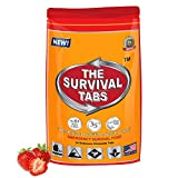 Survival Tabs 2-day Food Supply 24 Tabs Emergency Food Ration Survival MREs Meals Ready-to-eat Bugout Emergency Disaster Preparedness Earthquake Flood Tsunami Gluten Free and Non-GMO 25 Years Shelf Life Long Term Food Storage - Strawberry Flavor