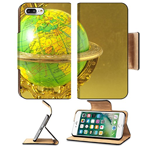 Liili Premium Apple iPhone 7 Plus Flip Pu Leather Wallet Case iPhone7 Plus The Globe Planet Earth on a Colored Background Photo 23318616 Simple Snap Carrying