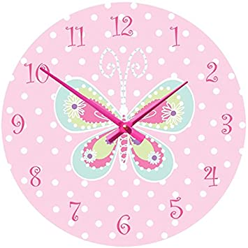 Girls Butterfly Clock Girls Butterfly wall clock kids Butterfly