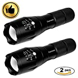 OUYOOOO Tactical LED Flashlight [2 PACK] – High Lumen, Portable, Zoomable, Water & Shock Resistant, Handheld Light - Best for Camping, Outdoors, Home, Emergency, or Gift-Giving