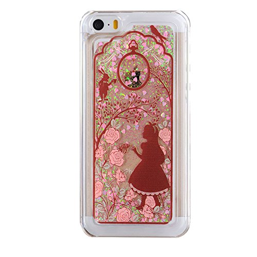 huge selection of a6d04 27b1e iPhone 5C Case, EMAXELER 3D Creative Brilliant Luxury Bling Glitter Liquid  Floating Printing Christmas Moving Hard Protective Case for Apple iPhone 5C  ...