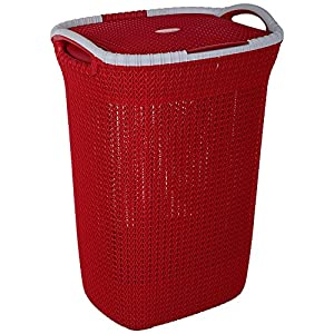 Nayasa Rope Laundry Basket – Multipurpose Basket – Plastic Laundry Basket – Small – Maroon