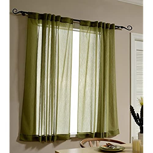 Green And White Curtains Kitchen Curtains: Amazon.com