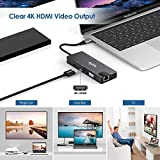 USB C Hub, 9-in-1 USB C Adapter with 4K USB C to