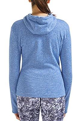 SPECIALMAGIC Women's Active Baby Terry Full-Zip Cotton Hooded Sweatshirt Hoodies