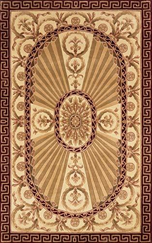 Momeni Rugs HARMOHA-15BUR3656 Harmony Collection Traditional Area Rug, 3'6