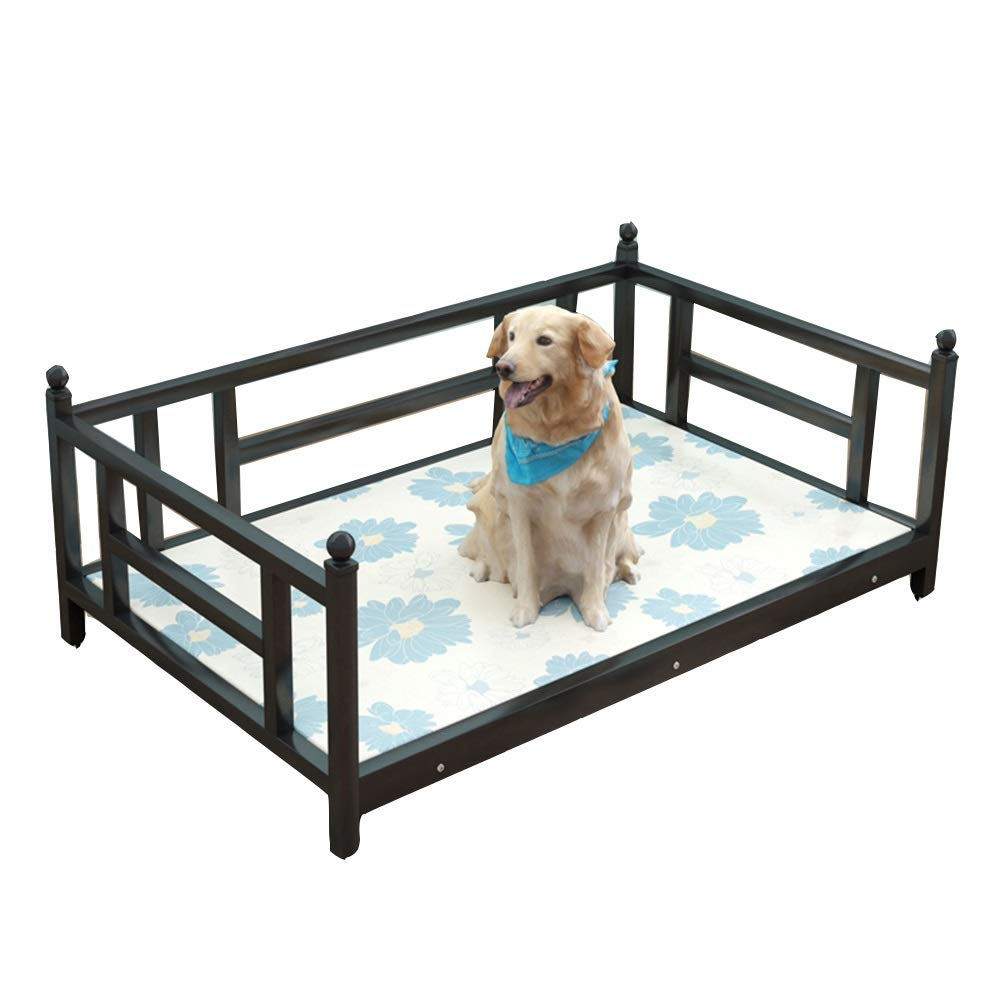 D 120x70cm D 120x70cm ZWYGXL Original Elevated Cooling Pet Bed Steel-Framed Portable Cat Dog Cot Summer Removable Washable Breathable Cooling Comfort Easy to Install (color   D, Size   120x70cm)