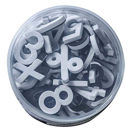 Lzttyee Decorative Magnetic EVA Alphabet Letters/Arabic Numerals for Refrigerator/White Board (78pcs Numbers White)