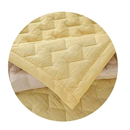 ZFADDS New Polyester/Cotton Sofa Elastic Cubierta Dirt-Proof Sofa Protect Mat Slipcover Sofa Cover 1-3Seats Sofa,Yellow Sofa Cover,110-110Cm