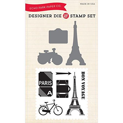 (Echo Park Paper Company Getaway Die/Stamp Combo Set)
