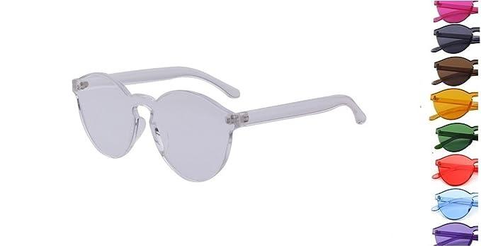Amazon.com: Retro Moda anteojos de sol rosa rojo verde azul ...