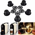 KING-DO-WAY-Filtri-capsule-riutilizzabili-per-caff-espresso-5-pezzi-36-x-25-mm-con-cucchiaio-per-Nespresso