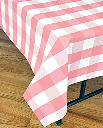 Attirant Pink And White Disposable Plaid Tablecloth (108u0026quot; X 54u0026quot; Disposable  Paper, Water