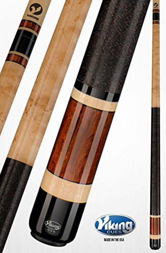 Cocobolo Joint (Viking A340 Pool Cue Stick Khaki Stain Central American Cocobolo Birdseye Sleeve Black (IMA) and Maple Rings Quick Release Joint ViKORE Shaft 18, 18.5, 19, 19.5, 20, 20.5, 21 oz. (21))