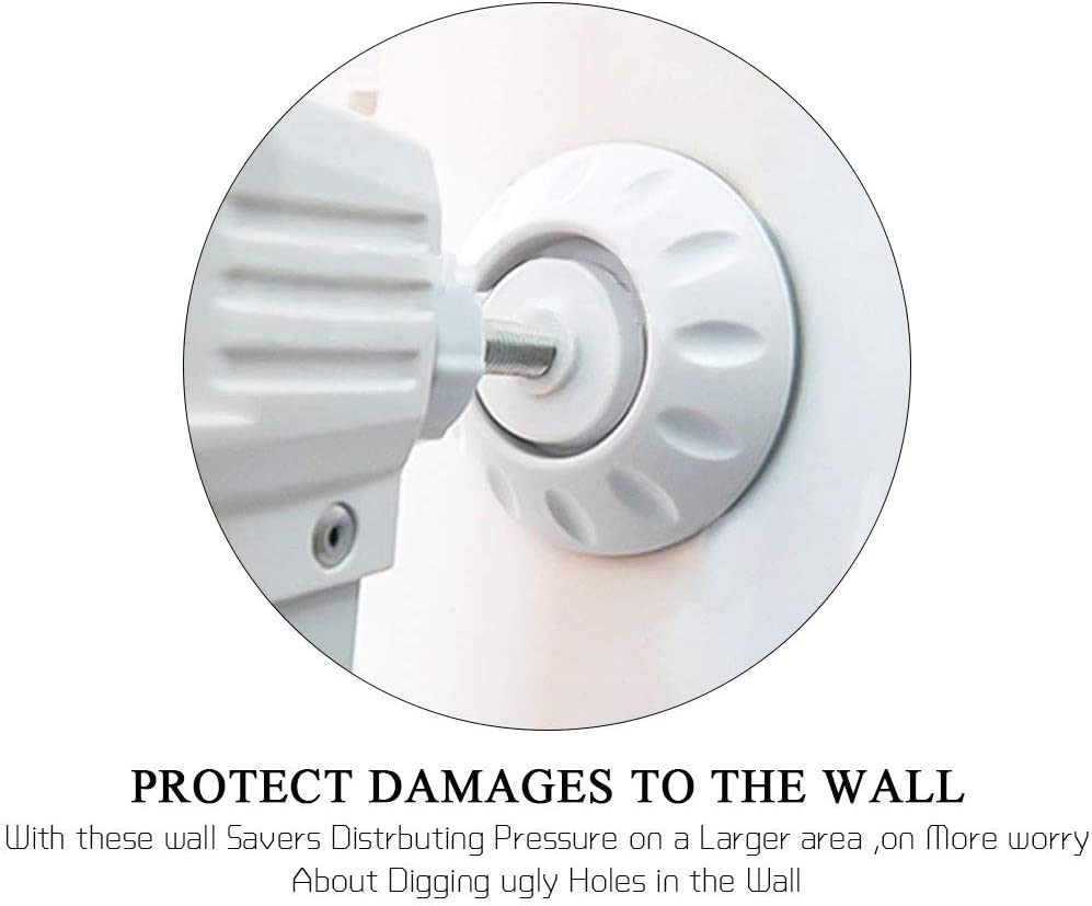 Wall Surface Stair Gate Wall Protector Baby Gate Wall Protector Installation Without Punching White MEEQIAO 8 Pack Babies /& Pets Safety for Protect Door Stair