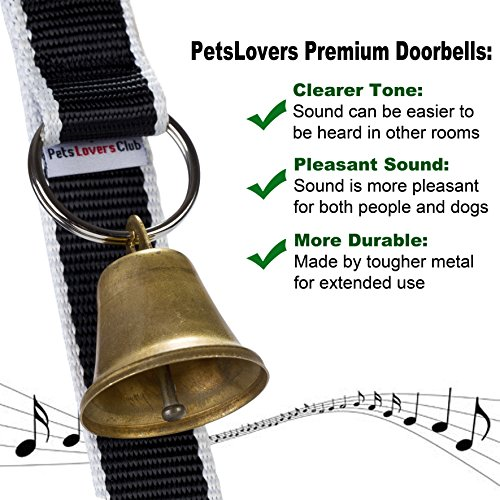 Loud Dog Door Bells | Sound from Good Quality Brass Bell is Easy to Hear | Adjustable Design for Different Dogs & Doors | Simple Instructions to Train | Best for Training Puppy To Go Potty Outside by Pets Lovers Club (Image #4)