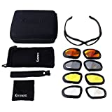 KEMIMOTO Non-Polarized Riding Goggles Sports Sunglasses, Motorcycle Riding Glasses Goggle With 4 Lenes Kits for Men Women Cycling Running Driving Fishing Golf Baseball Glasses