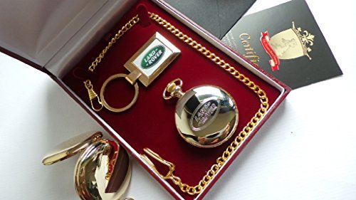 The British Gold Company Pure 24K Gold Plated Land Rover Pocket Watch Discovery Keyring With Collectors Mug Lander - Watch Discovery