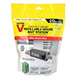Victor M923 Fast-Kill Brand Ready-to-Use Refillable Mouse Station - 20 Blocks