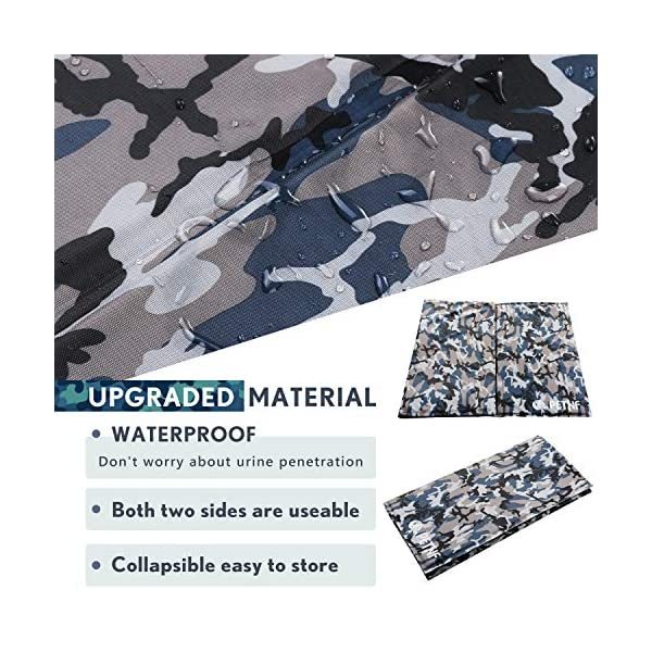 Large Dog Cooling Mat, Camouflage Oxford Resistant-Dirty Scratch-Resistant, Safety Non-Toxic Self Gel Cooling Mat for Dogs Cats Pet, Foldable Waterproof Wear-Resistant Cooling Pad for Dogs 90x60 CM 3
