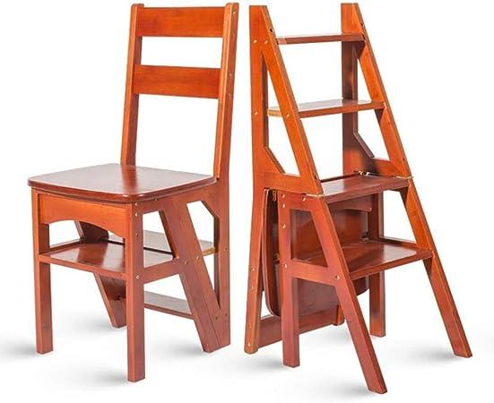 XITER Sillas de Escalera de bambú, Escalera Plegable Escalera Escaleras de Madera: Amazon.es: Hogar