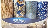 Kleenex Facial Tissues Perfect Fit Package of 4 Decorator Designs – Blue