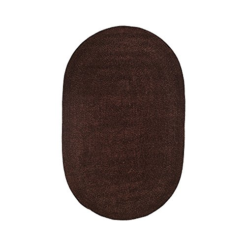 Better Trends/ Pan Overseas BRCR58CN Chenille Reversible Solid Area Rug, 5' x 8', Chestnut