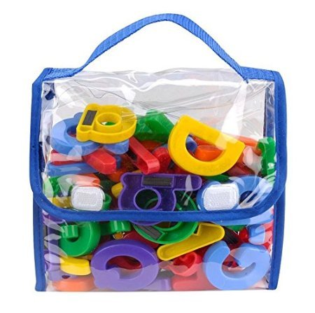 Edukid Toys Magnetic Letters and Numbers - 72 Pcs in a Tote Bag