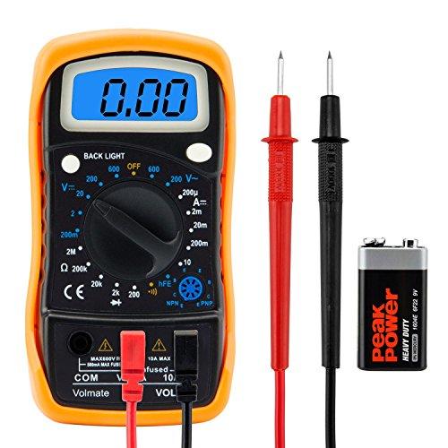 Price comparison product image Digital Voltmeter Ammeter Ohmmeter Multimeter Volt AC DC Tester Meter US Seller
