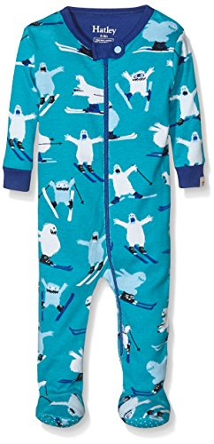 Hatley Boys' Footed Coverall, Ski Monsters, 3-6 by Hatley (Image #1)
