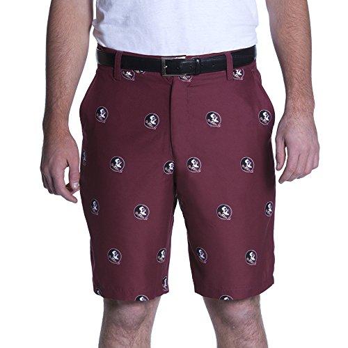 Florida State Mens Shorts - NCAA Adult Men's Game Changer Shorts, Florida State Seminoles, 38, Maroon