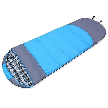 LJHA shuidai Saco de Dormir/Adultos Acampar Al Aire Libre Senderismo Saco de Dormir Rectangular de Algodón con Saco de Compresión (2 Colores Disponibles): ...