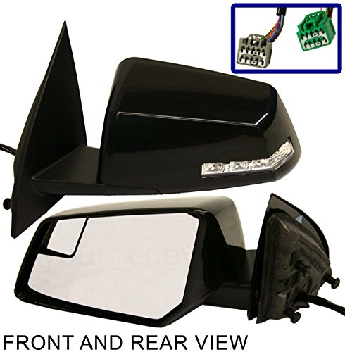 Chevrolet Traverse GMC Acadia LH Driver Side View Mirror Glass spotter heated OE