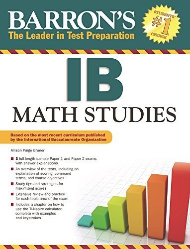 Barron's Ib Math Studies by Allison Paige Bruner (2014-09-10)