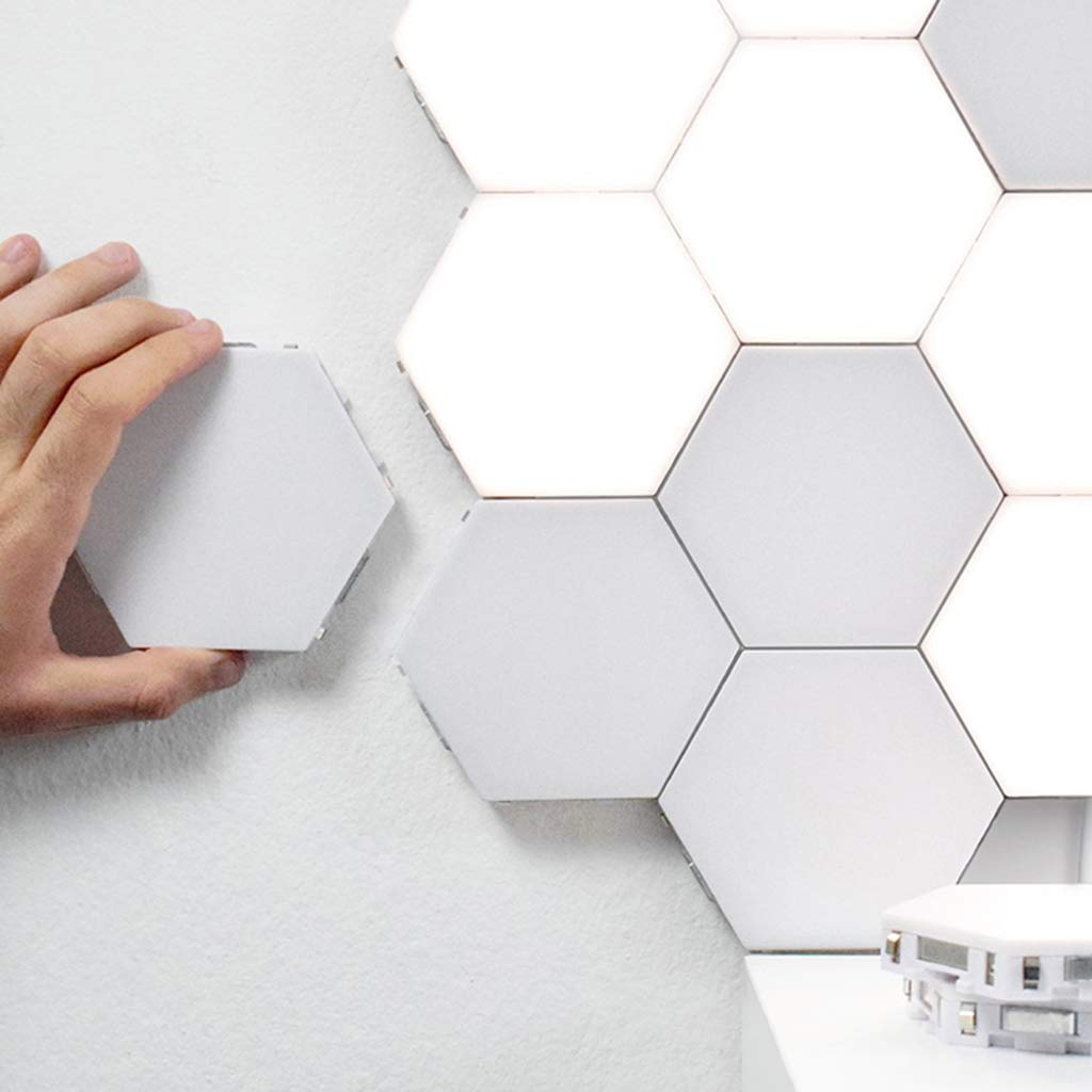 Junphsion Cupboard Light Personality Wall Decoration Lights, Smart Wall Lamp for Art Living Creative Background Wall, Touch Control Sensor Switch Wall Light for Hallway/Bathroom,16Pcs