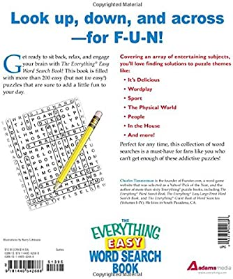 The Everything Easy Word Search Book: More than 200 fun