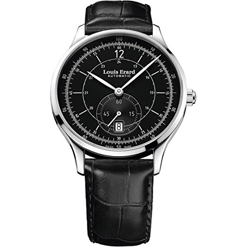 Louis Erard Men's 1931 Black Leather Band Steel Case Sapphire Crystal Automatic Watch 33226AA12.BDC02