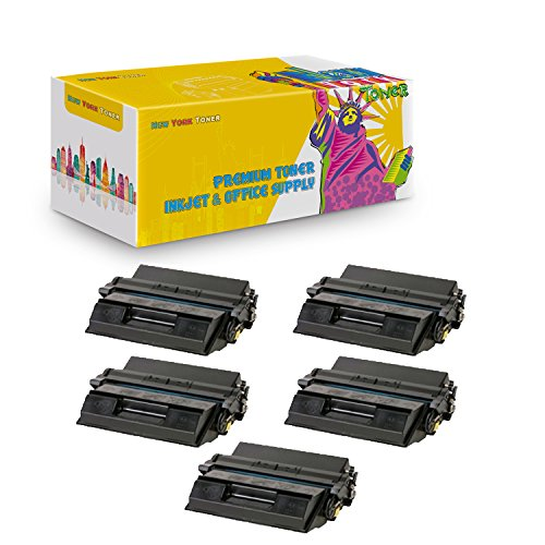 New York TonerTM New Compatible 5 Pack 38L1410 High Yield Toner for IBM - InfoPrint 21 -- Black ()