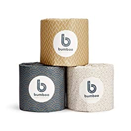 Bumboo | Luxury 3 Ply Bamboo Toilet Paper, Eco-Friendly, Soft & Strong – 48 Extra Long Toilet Rolls