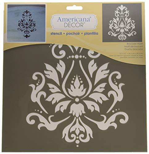DecoArt ADS-01 Americana Decor Stencil, Brocade Motif