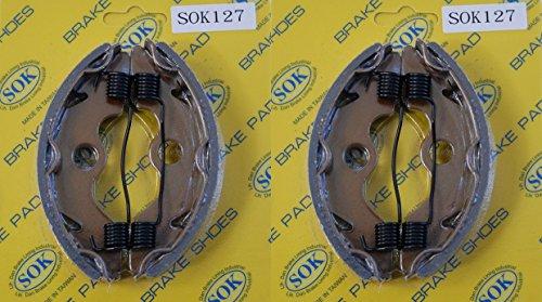 FRONT BRAKE SHOES+Springs HONDA 1986-1997 TRX 200 Fourtrax, 1997-2017 TRX 250 Fourtrax Recon (SK127WS x2)