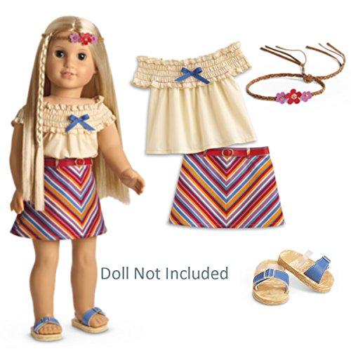 Doll Skirt Set - American Girl Julie's Summer Skirt Set for 18
