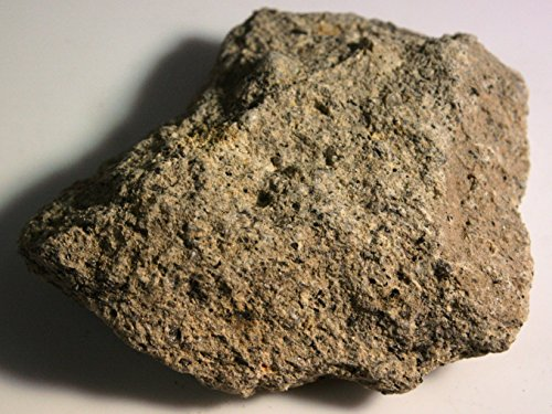 (Light Gray Tuff, a Fine-Grained Volcanic Rock - 2 Raw Pieces)