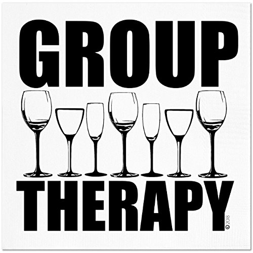 - Funny Napkins - GROUP THERAPY - Boutique Cocktail Napkin, 5