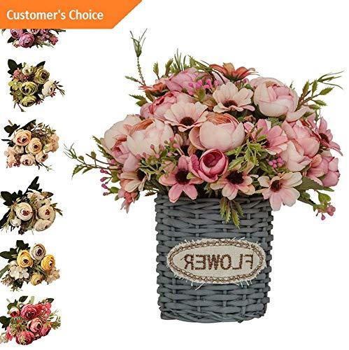 Hebel 1Pc Artificial Tea Rose Hydrangea Fake Flower Home Decor Photography Props Cal | Model ARTFCL - 254 |