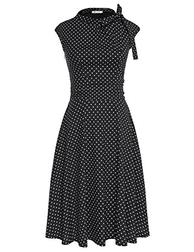 MUXXN Womens Sleeve Ruched Rockabilly